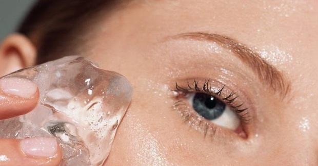 Resultado de imagen de foto hielo y contorno de ojos